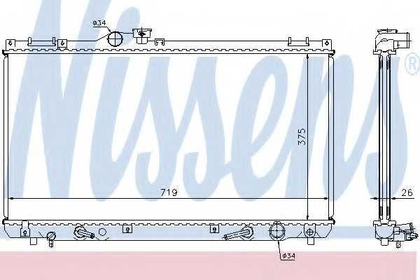 Радиатор охлаждения двигателя NISSENS 64653A - изображение
