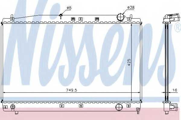 Радиатор охлаждения двигателя NISSENS 64654A - изображение