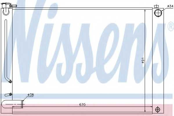 Радиатор охлаждения двигателя NISSENS 64660 - изображение