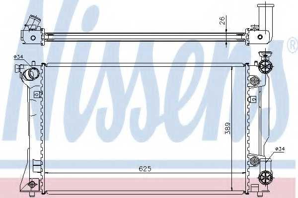 Радиатор охлаждения двигателя NISSENS 64668A - изображение