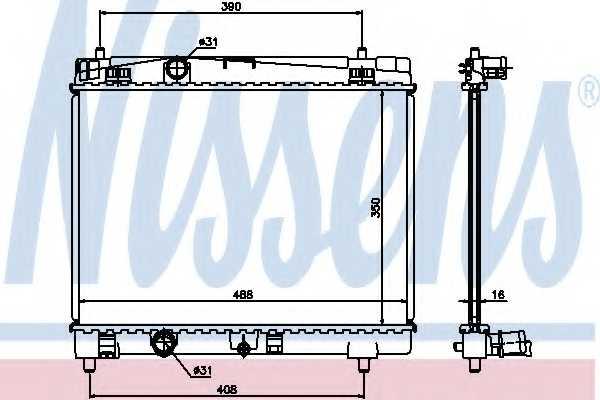Радиатор охлаждения двигателя NISSENS 64671A - изображение