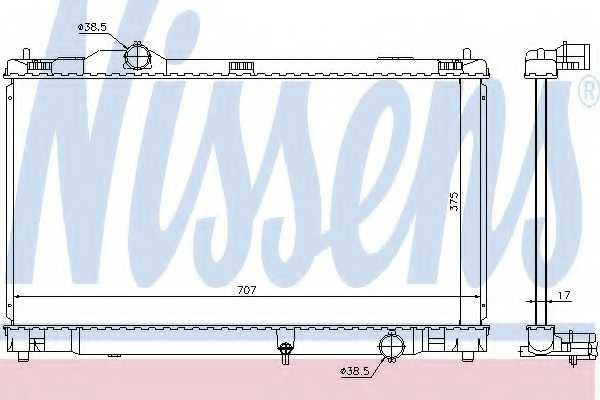 Радиатор охлаждения двигателя NISSENS 64672 - изображение