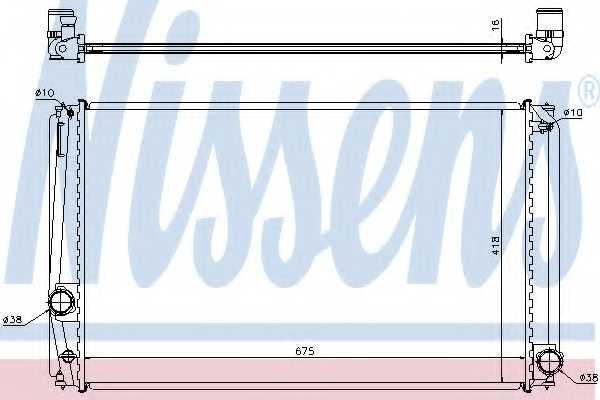 Радиатор охлаждения двигателя NISSENS 64678A - изображение