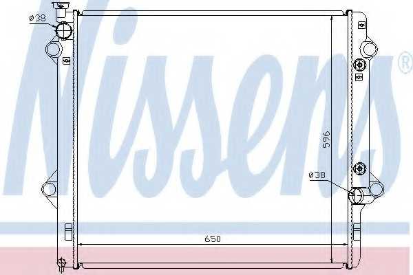 Радиатор охлаждения двигателя NISSENS 646806 - изображение