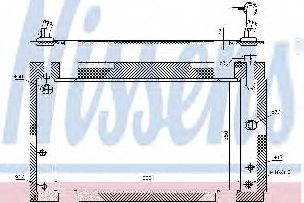 Радиатор охлаждения двигателя NISSENS 646809 - изображение