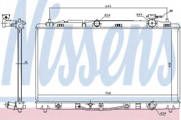 Радиатор охлаждения двигателя NISSENS 646812 - изображение