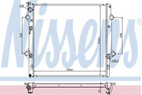 Радиатор охлаждения двигателя NISSENS 646818 - изображение