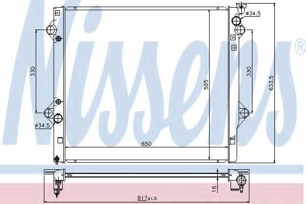 Радиатор охлаждения двигателя NISSENS 646822 - изображение