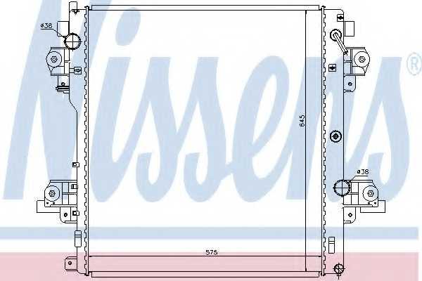 Радиатор охлаждения двигателя NISSENS 646824 - изображение
