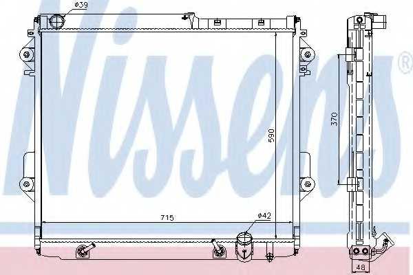 Радиатор охлаждения двигателя NISSENS 646826 - изображение
