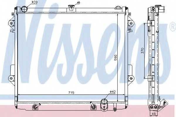 Радиатор охлаждения двигателя NISSENS 646827 - изображение