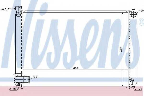 Радиатор охлаждения двигателя NISSENS 646829 - изображение