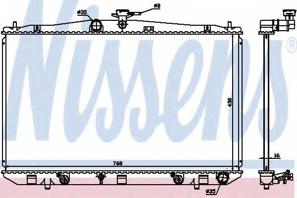 Радиатор охлаждения двигателя NISSENS 646836 - изображение
