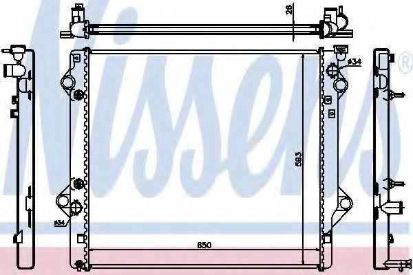 Радиатор охлаждения двигателя NISSENS 64684 - изображение