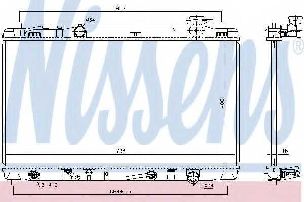Радиатор охлаждения двигателя NISSENS 646844 - изображение