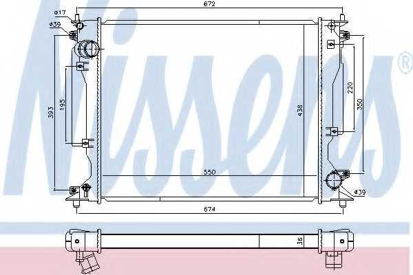 Радиатор охлаждения двигателя NISSENS 646904 - изображение