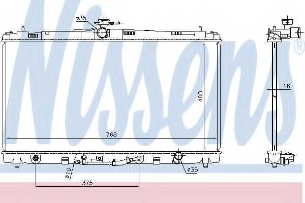 Радиатор охлаждения двигателя NISSENS 646906 - изображение