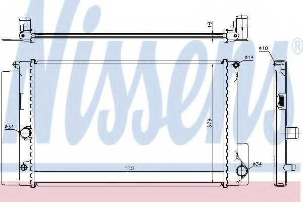 Радиатор охлаждения двигателя NISSENS 64692 - изображение