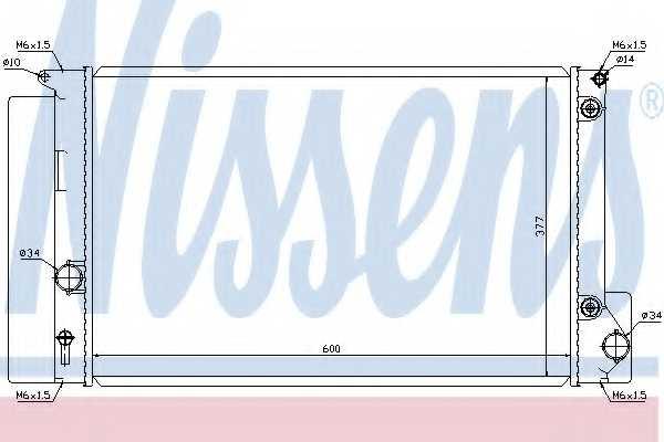 Радиатор охлаждения двигателя NISSENS 64694 - изображение
