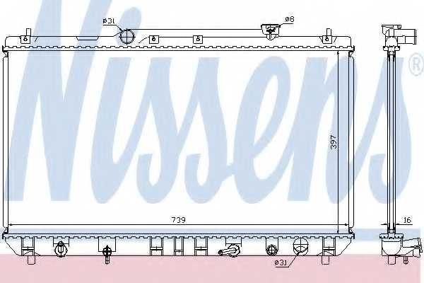 Радиатор охлаждения двигателя NISSENS 646991 - изображение