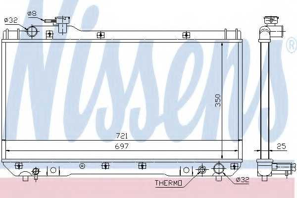 Радиатор охлаждения двигателя NISSENS 64706 - изображение