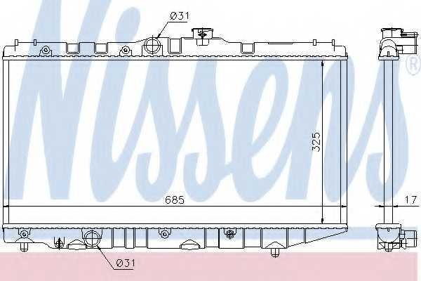 Радиатор охлаждения двигателя NISSENS 64718 - изображение