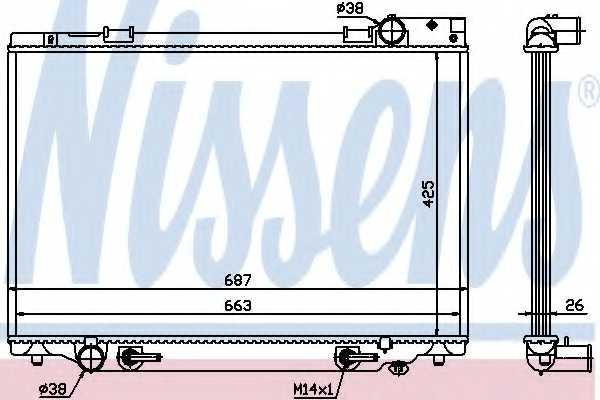Радиатор охлаждения двигателя NISSENS 647451 - изображение