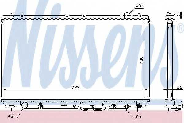 Радиатор охлаждения двигателя NISSENS 647541 - изображение