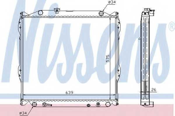 Радиатор охлаждения двигателя NISSENS 647551 - изображение