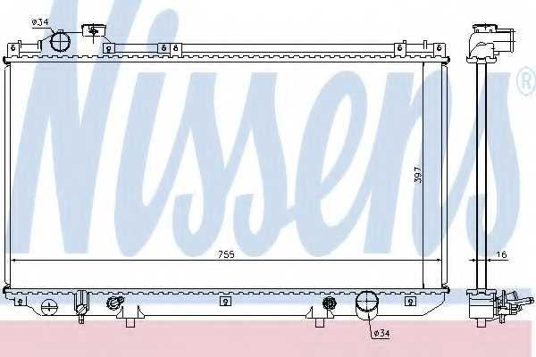Радиатор охлаждения двигателя NISSENS 64759 - изображение