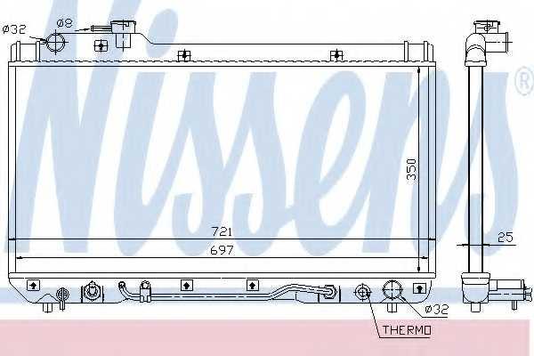 Радиатор охлаждения двигателя NISSENS 64761 - изображение