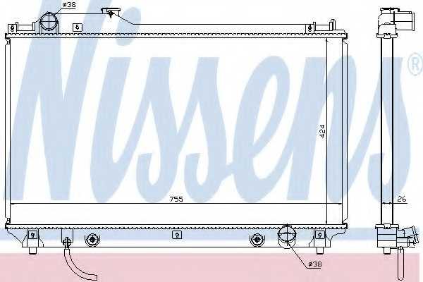 Радиатор охлаждения двигателя NISSENS 64764 - изображение