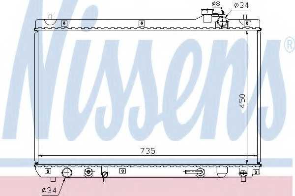 Радиатор охлаждения двигателя NISSENS 64766 - изображение