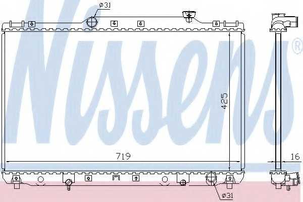 Радиатор охлаждения двигателя NISSENS 64769A - изображение