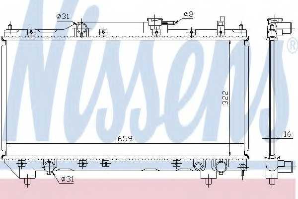 Радиатор охлаждения двигателя NISSENS 64781A - изображение