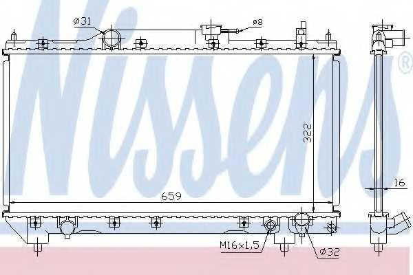 Радиатор охлаждения двигателя NISSENS 64783A - изображение