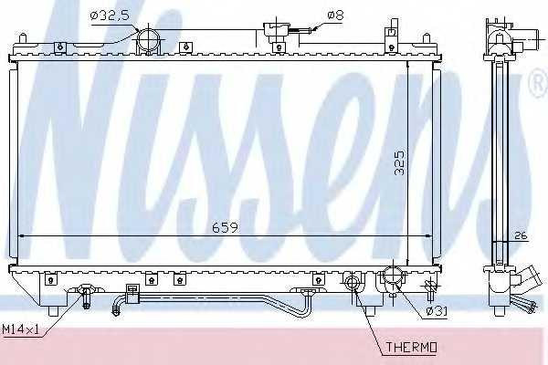 Радиатор охлаждения двигателя NISSENS 64784A - изображение
