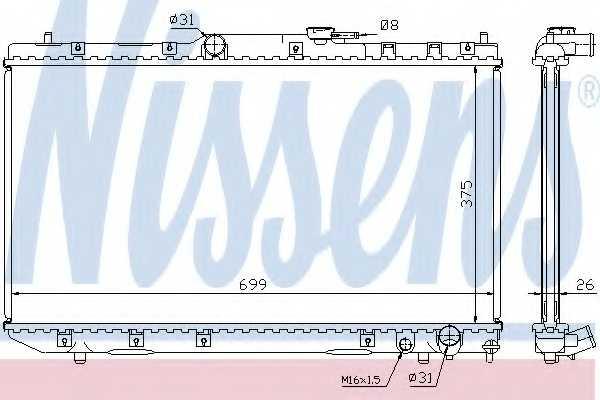 Радиатор охлаждения двигателя NISSENS 64785A - изображение