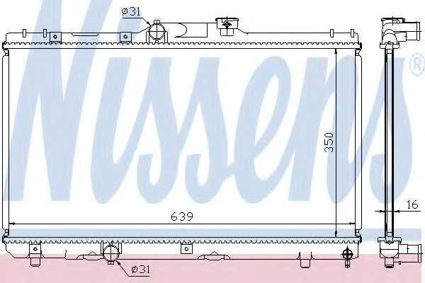 Радиатор охлаждения двигателя NISSENS 64786A - изображение