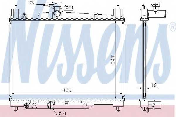 Радиатор охлаждения двигателя NISSENS 64789A - изображение