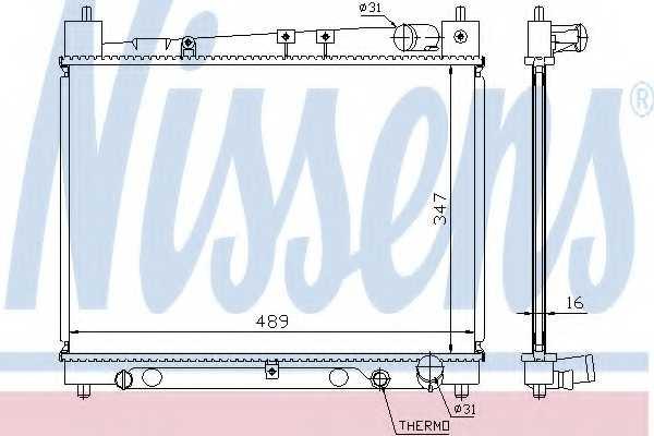 Радиатор охлаждения двигателя NISSENS 64798 - изображение
