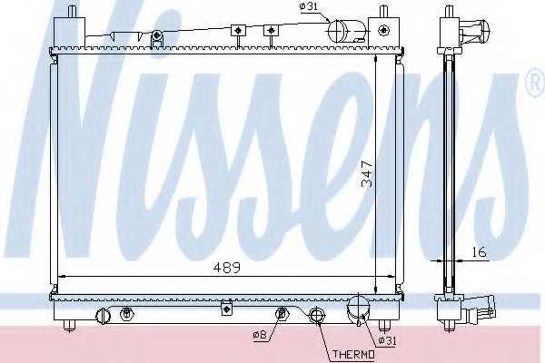 Радиатор охлаждения двигателя NISSENS 64799 - изображение