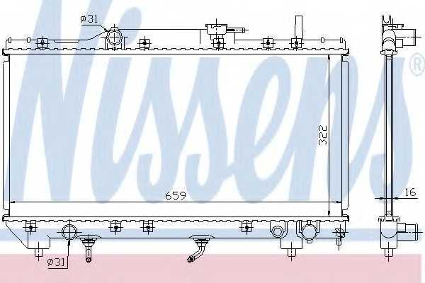 Радиатор охлаждения двигателя NISSENS 64806 - изображение