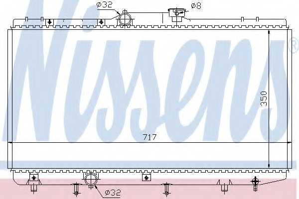 Радиатор охлаждения двигателя NISSENS 648321 - изображение