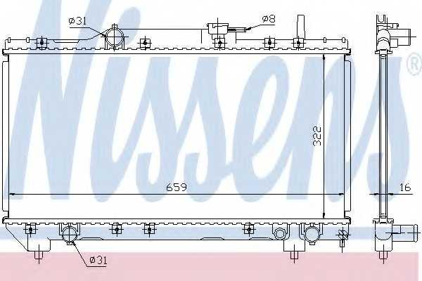 Радиатор охлаждения двигателя NISSENS 64838A - изображение