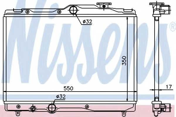 Радиатор охлаждения двигателя NISSENS 64839 - изображение