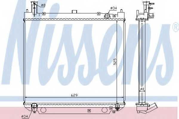 Радиатор охлаждения двигателя NISSENS 64857A - изображение
