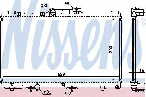Радиатор охлаждения двигателя NISSENS 64868A - изображение