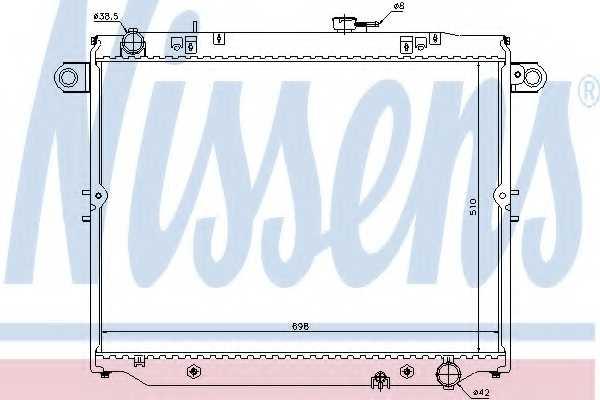 Радиатор охлаждения двигателя NISSENS 64882 - изображение