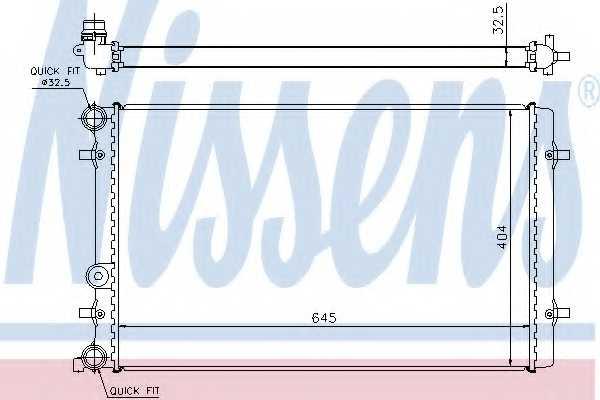 Радиатор охлаждения двигателя NISSENS 65011 - изображение